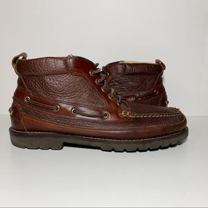 LL Bean Brown Leather Men's Lace Up Ankle Boots